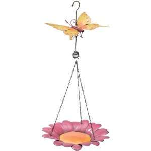 Birdfeeder Handcrafted Decor Butterfly Bird Feeder   Regal Art #10041
