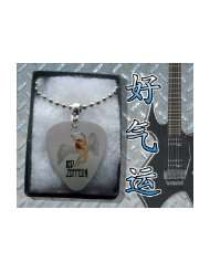 Led Zeppelin Metal Guitar Pick Necklace Boxed Music Festival Wear