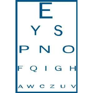Bad Eye Chart Removable Wall Sticker