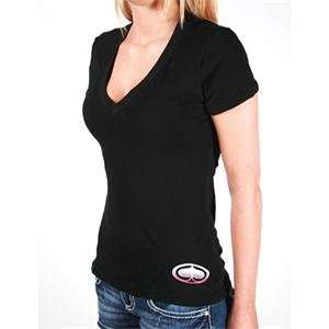 SRH Womens Big Bang V Neck T Shirt   Small/Black Automotive