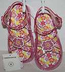 NWT AMELIE TODDLER GIRL PINK SANDALS WITH RHINESTONES SIZE 8M