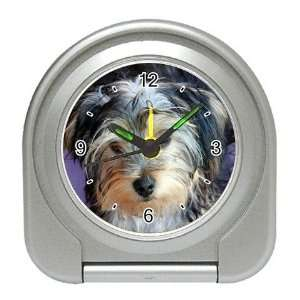 Yorkshire Terrier Puppy Dog 3 Travel Alarm Clock JJ0654