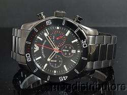 NEW EMPORIO ARMANI AR5931 MENS BLACK IP STEEL CHRONO WATCH