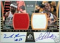 2004 05 SP Game Used ZACH RANDOLPH JASON RICHARDSON Dual Auto Jersey