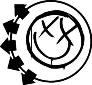 Blink 182 alternative rock band logo vinyl sticker 479