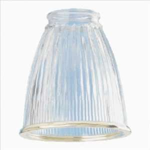 Westinghouse Lighting 81210 Clear Pleated Ceiling Fan Light Shade with