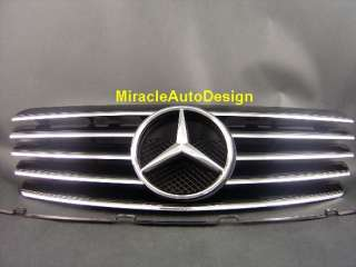 Black Front Grille For 1996 2002 Mercedes Benz W208 CLK Class