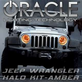 2007 12 Jeep Wrangler ORACLE Headlight HALO Kit  ORANGE (AMBER) LED