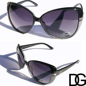 New 2012 Vintage Retro Women DG Eyewear Fashion Sunglasses Black Gray