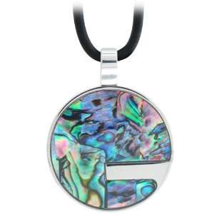 Jewelry Womens Abalone Fractured Circle Pendant Necklace Jewelry