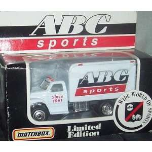 ABC Sports 1996 Matchbox Diecast Ford F 800 Delivery Truck