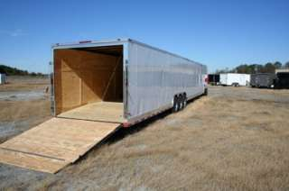 ENCLOSED CARGO AUTO CAR HAULER RACE TRAILER 21,000 GVWR 102x52