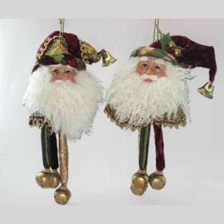 KURT ADLER CHRISTMAS BEAUTIFUL NEW 13 SANTA HEAD WITH BELLS ORNAMENT