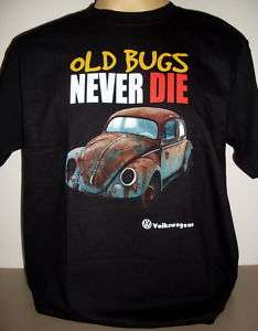 Volkswagen VW Beetle Bug black Top T Shirt Size S new