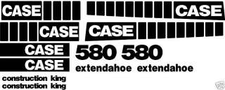580 Construction King Extendahoe Case Loader Backhoe Decal Set Whole