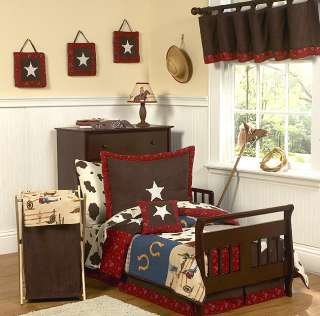 DISCOUNT WESTERN HORSE COW BOY TODDLER CHILDREN BEDDING SET