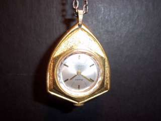 Lucerne Lady Swiss Watch Necklace Pendant Arrowhead