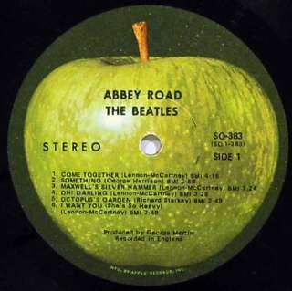BEATLES Abbey Road LP APPLE RECORDS 1969 APPLE SO 383 SLEEVE IN SHRINK