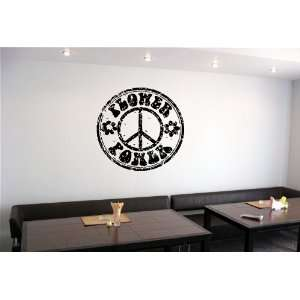 FLOWER POWER STAMP WALL STICKER DECALS ART MURAL VINYL