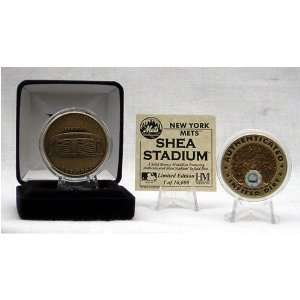 New York Mets Shea Stadium Authenticated Infield Dirt Coin
