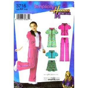 Simplicity 3716 Hannah Montana Girls Knit Mini Dress Hoody