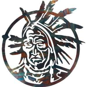 Native American Brave Indoor Outdoor Metal Wall Art Southwest Décor
