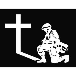 at the Cross 6 White Vinyl Die Cut Decal Sticker