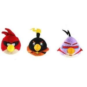 Angry Birds Space 5 Inch DELUXE Plush with sound Set of 3 (Super Red