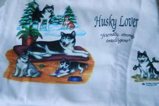Husky Dogs Dog Lover T Tee Cotton Shirt Clothes Apparel