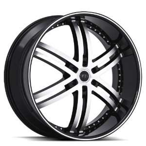Status Knight6 S817 24x10 Lincoln Ford Wheels Rims Machine Face Black