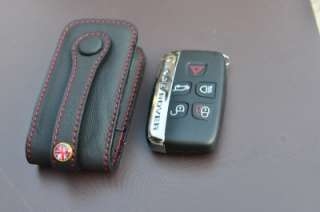 BK/R Genuine leather Key Fob Range Rover Land Rover Evoque Discovery 4