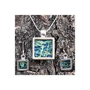 NOVICA Dichroic art glass jewelry set, Aquarium Jewelry