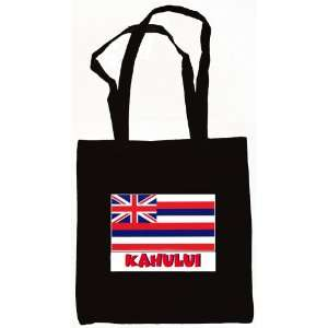 Kahului Hawaii Souvenir Canvas Tote Bag Black Everything