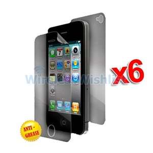 6X Front Back Anti Glare Matte LCD Screen Protector Covers for iPhone