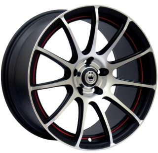 NEW KONIG BACKBONE 16X7 4X100 ET40 MATTE BLACK RIM WHEELS