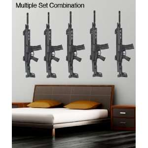 Wall Decal Sticker ARC Military Weapon Gun JH175