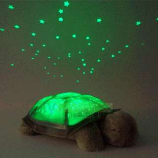 Kid Baby Twilight Sleep Toy Turtle Night Light Stars Constellation Led