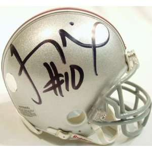 Troy Smith Signed Ohio State Riddell Mini Helmet Sports