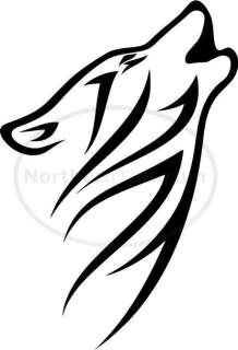 Tribal Wolf Car Decal Window Sticker Wall Art #521