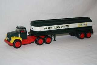 1969 Hess Amerada Gasoline Toy Truck Tank Trailer in Original Box Box