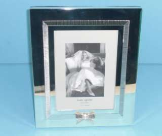 Kate Spade Grace Avenue Bow Detail Silverplate 5 x 7 Inch Frame Decor