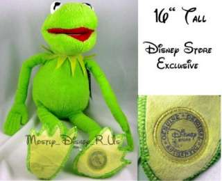 Authentic Original The Muppets Kermit Frog 2011 Toy Plush Doll 16