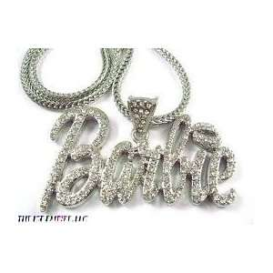 Hip Hop Bling Xl Iced OUT Nicki Minaj Barbie Pendant & 18