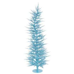 3 Pre Lit Whimsical Sky Blue Artificial Laser Christmas