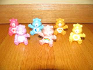 Lot of 6 mini Care Bear Figures Cake Topper Party toys