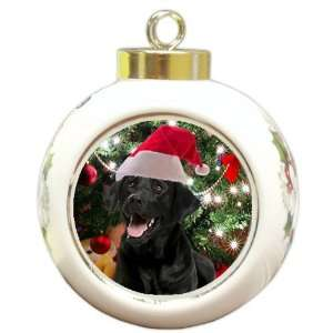 Black Lab Labrador Dog Holiday Christmas Ornament