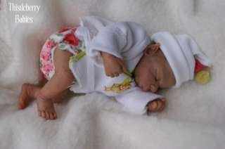Thistleberry Babies OOAK Sculpted Clay Elf Baby 9.5  Beautifully
