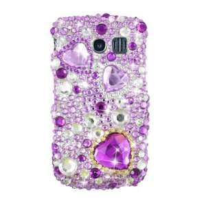 Purple Heart Design Bling Case Protector Cover + Free Lf Stylus Pen