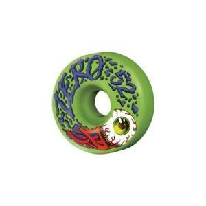 Zero Bloodshot Green Skateboard Wheels   52mm 99a (Set of