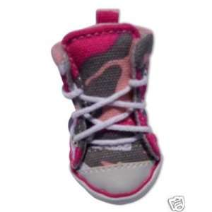 Canvas Pink Camo Dog Puppy Shoes Sneakers #4